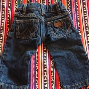Infant Wrangler jeans size 6-9 months. Like New!!